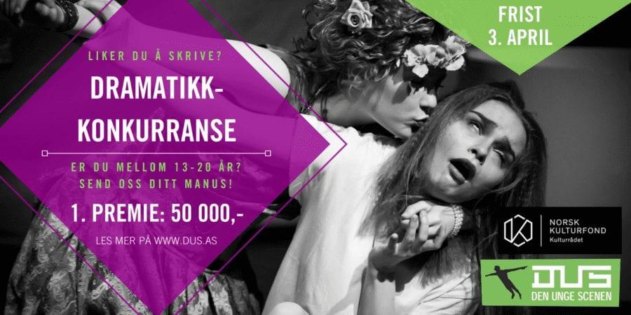 Dramatikkonkurranse for ungdom mellom 13 og 20 år! hovedbilde