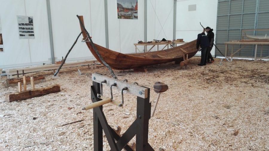 Havnelangs 2018: Båtbygging i Middelalderparken