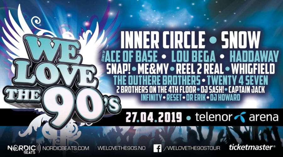 We Love The 90s 2019 hovedbilde