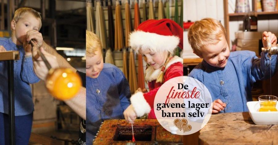 Julegaveverksted på Hadeland Glassverk