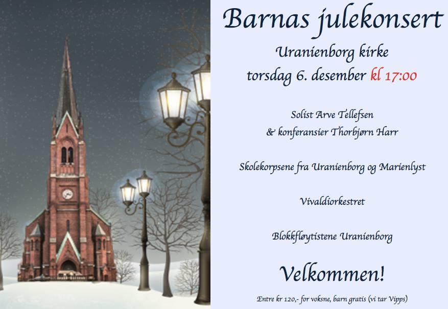 Barnas Julekonsert i Uranienborg Kirke hovedbilde