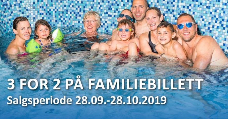 3 for 2 på familiebillett på Drammensbadet hovedbilde