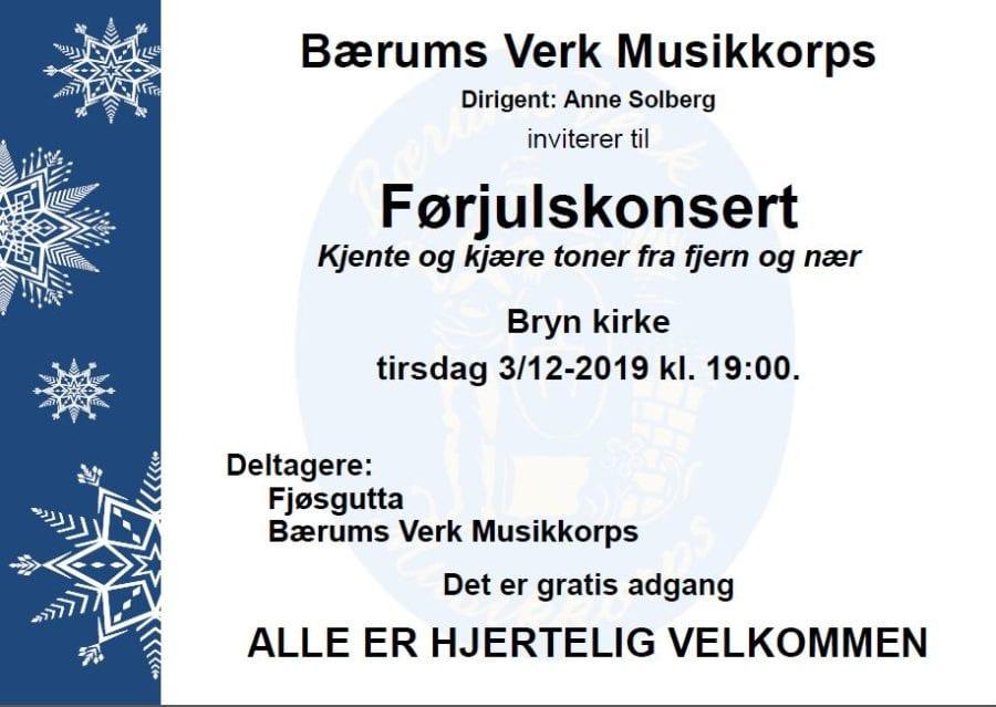 Konsert med Bærums Verk musikkorps og Fjøsgutta hovedbilde