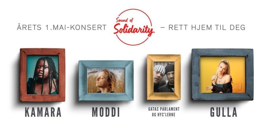 Sound of Solidarity – årets 1.mai-konsert rett hjem til deg! hovedbilde