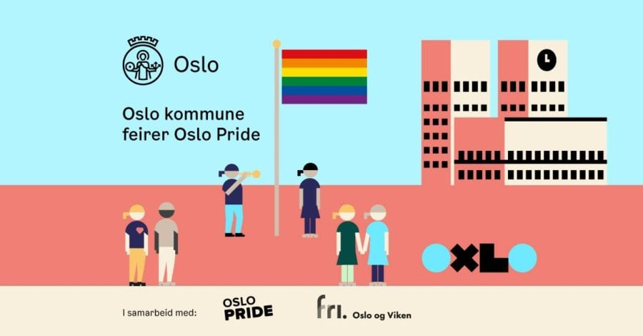 Oslo kommune feirer Oslo Pride hovedbilde