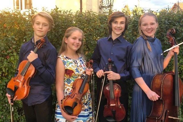 Ung kvartettserie: Digital konsert med Kvartett Saphir hovedbilde