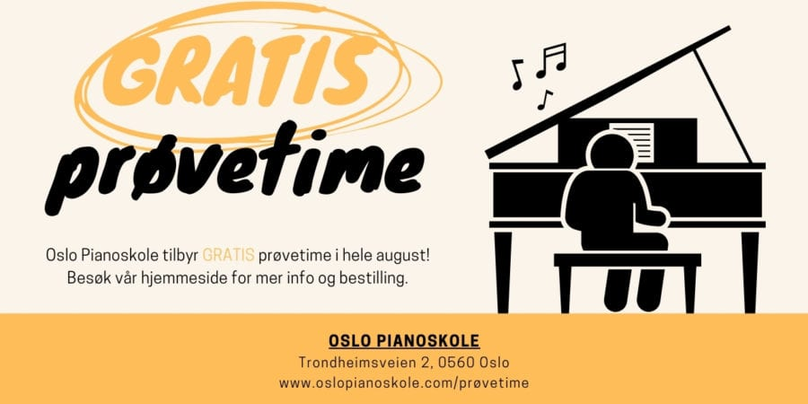 Gratis prøvetime hos Oslo Pianoskole hovedbilde