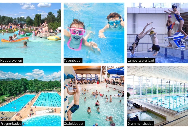 Svømmehaller og badeland i Oslo