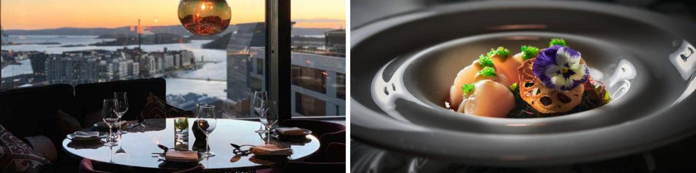 Nodee sky restaurant i Oslo romantiske ting å gjøre i Oslo