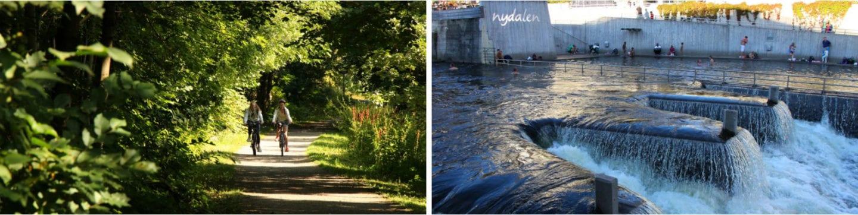 Nydalen til Majorstuen sykkel i Oslo