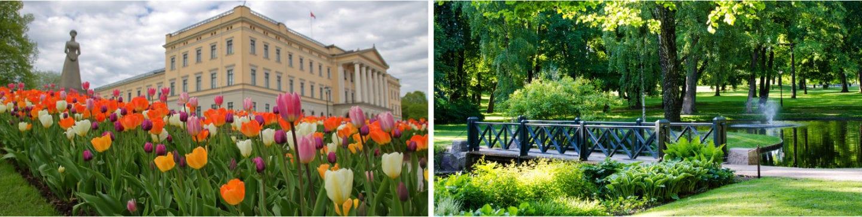 Slottsparken, parker i Oslo, romantiske parker i Oslo
