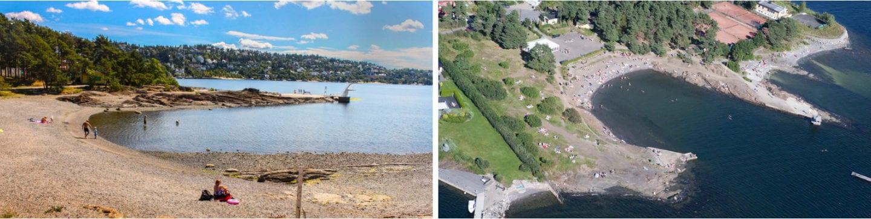 Sydstranda badesteder og strender i Oslo