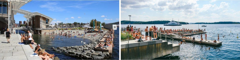 Tjuvholmen bystrand badesteder og strender i Oslo