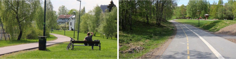 Veitvet til Økern sykkel i Oslo