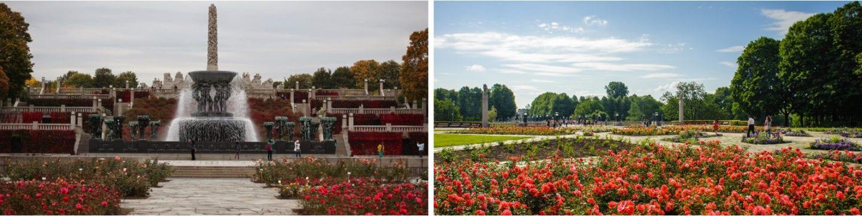 Vigelandsparken i forgnerparken, parker i Oslo, romantiske parker i Oslo