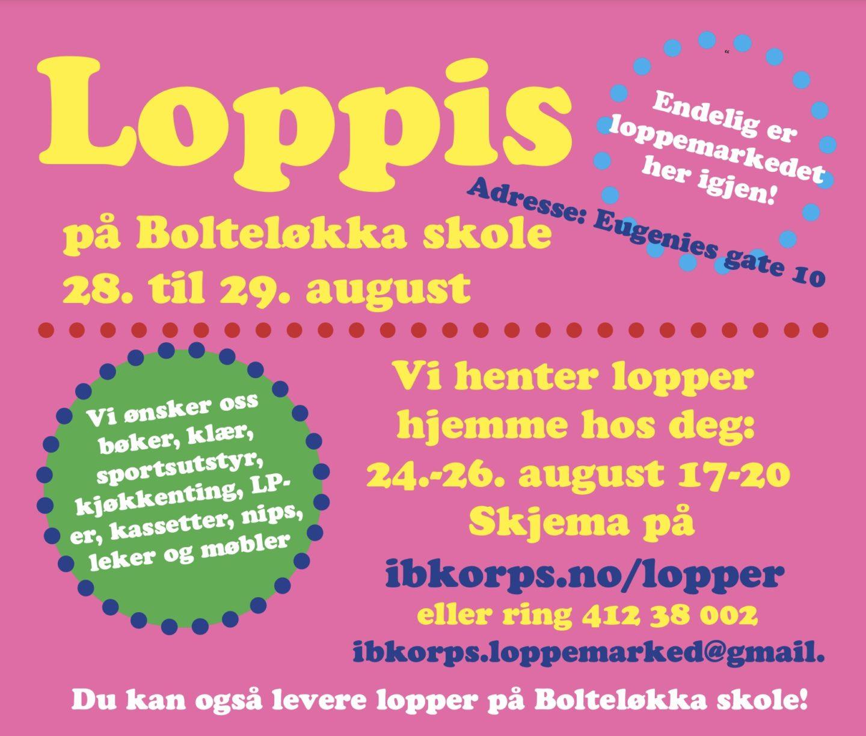 Bolteløkka Skole Loppemarked i Oslo 28. og 29. august 2021