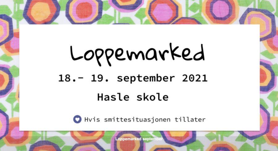 Eventbilde: Loppemarked på Hasle Skole 18. og 19. september 2021