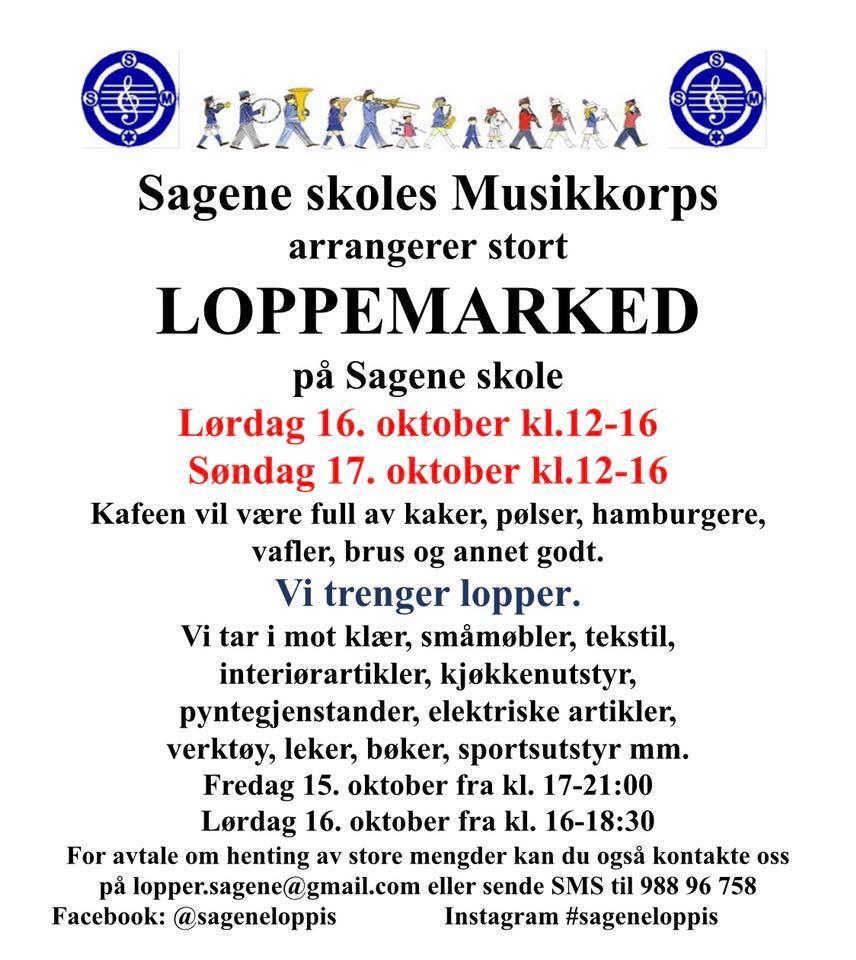 Kjelsås Skole Loppemarked i Oslo 16. og 17 oktober 2021