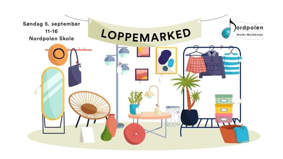 Nordpolen Skole loppemarked i oslo 5. september 2021