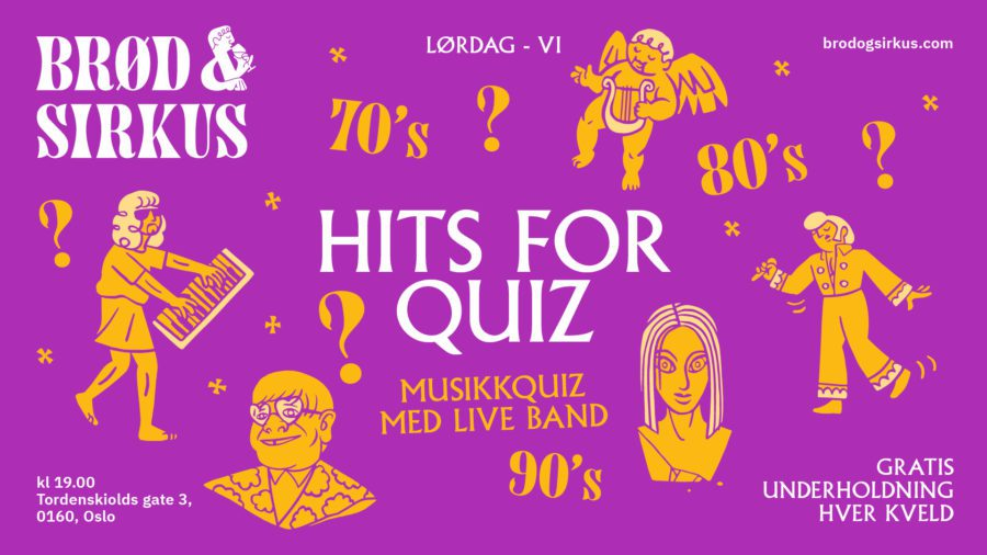 Eventbilde: Hits For Quiz – musikkquiz med live band