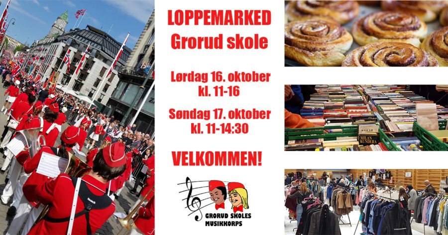 Loppemarked Grorud skole – 16. oktober hovedbilde